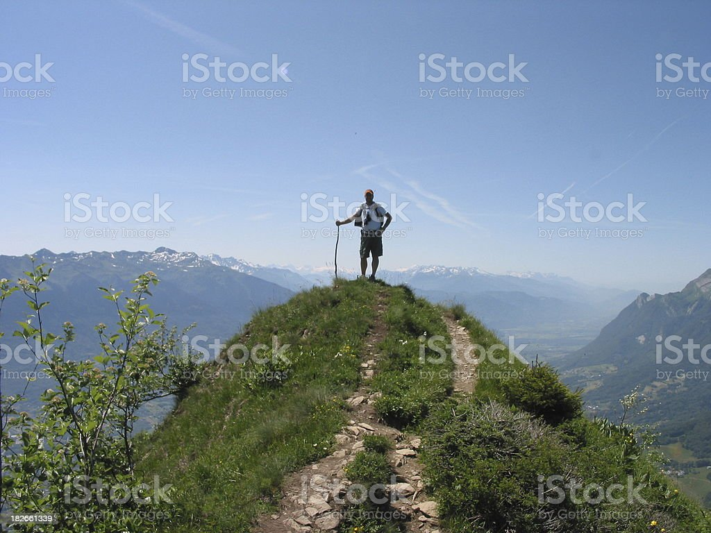Mountain Top Climber stock photo