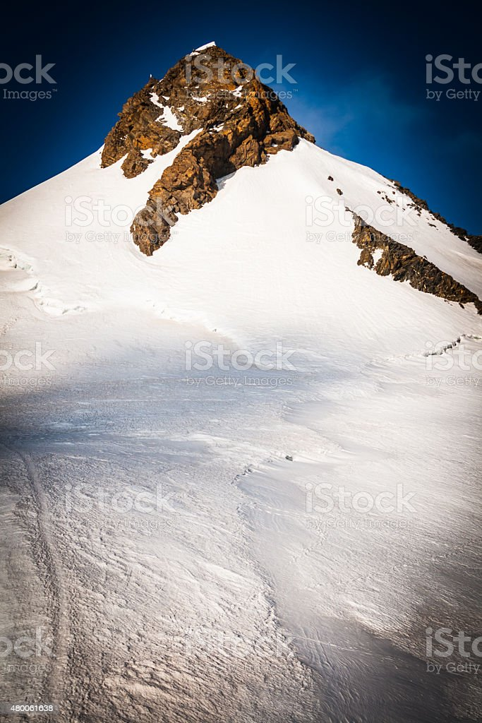 Mountain Top In Monte Rosa stock photo