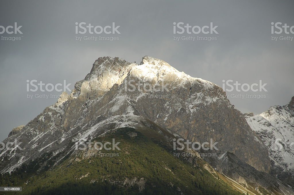 Mountain Top in Sunset Light royalty-free stock photo