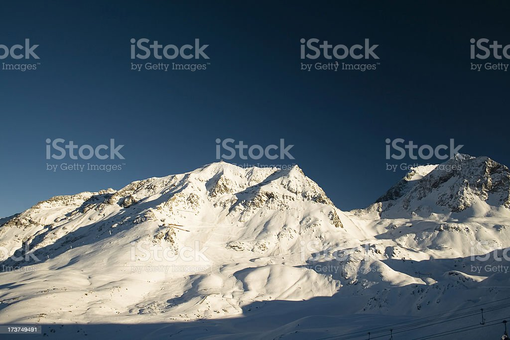 Mountain top moon royalty-free stock photo