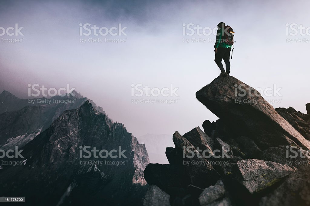 mountain top stock photo