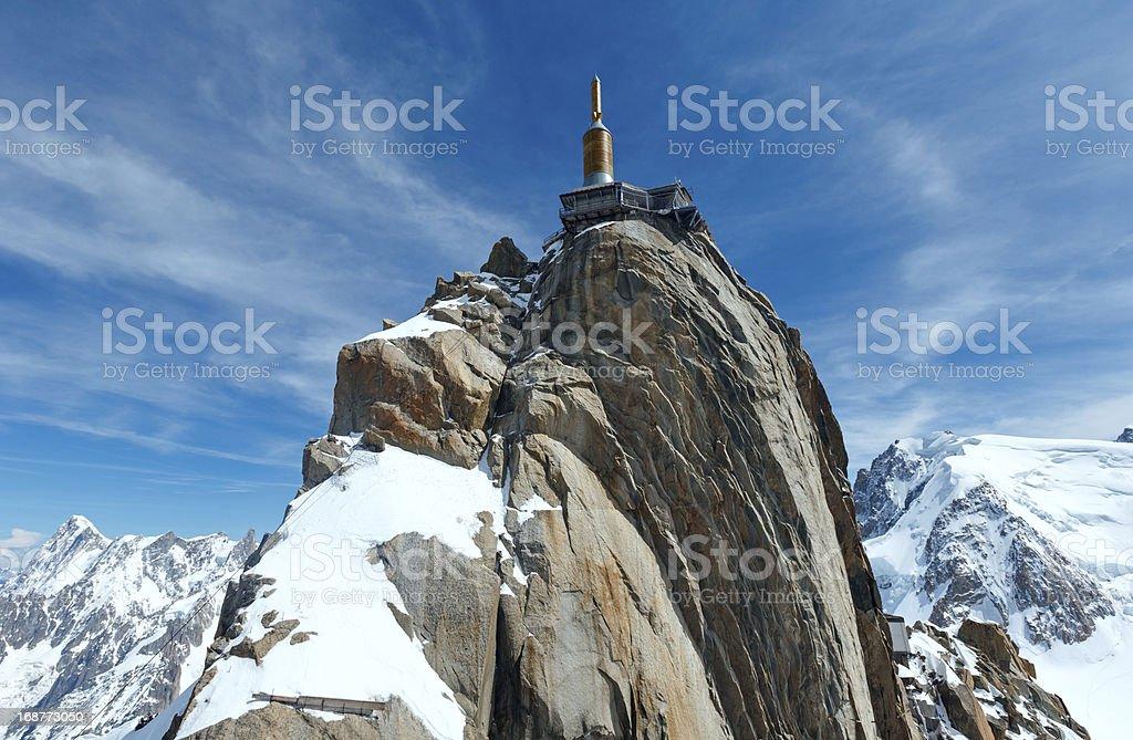 Mountain top station (Aiguille du Midi, France). stock photo