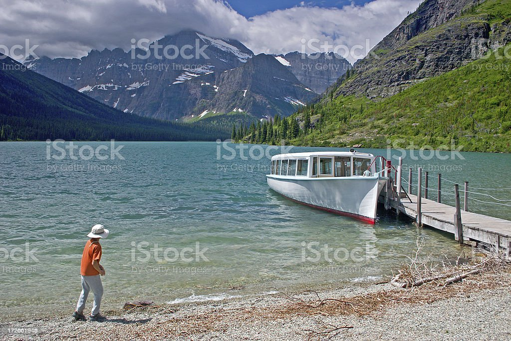 Mountain Tours by Boat royalty-free stock photo