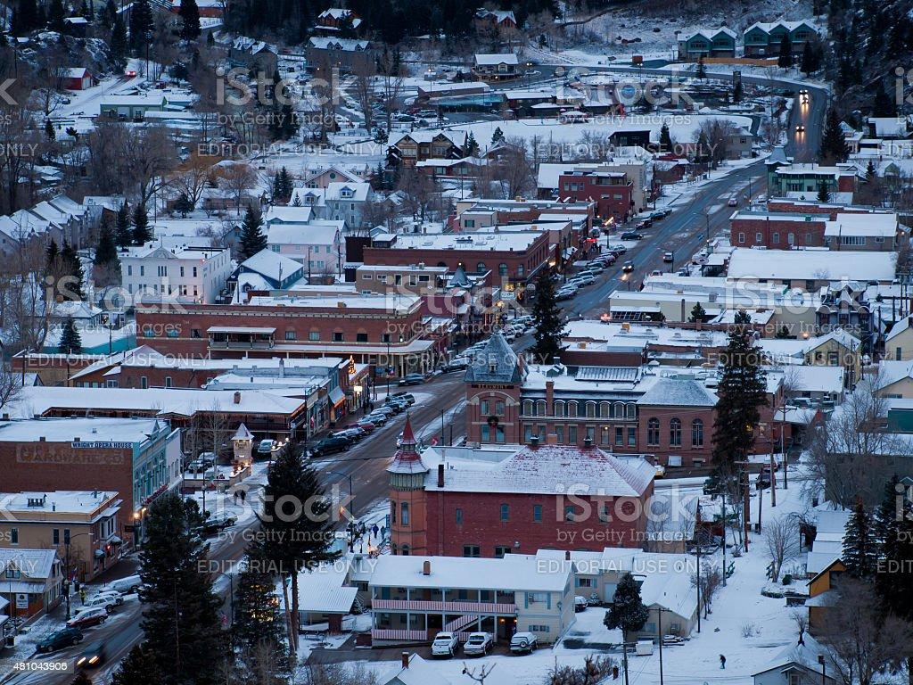 Mountain Town stock photo