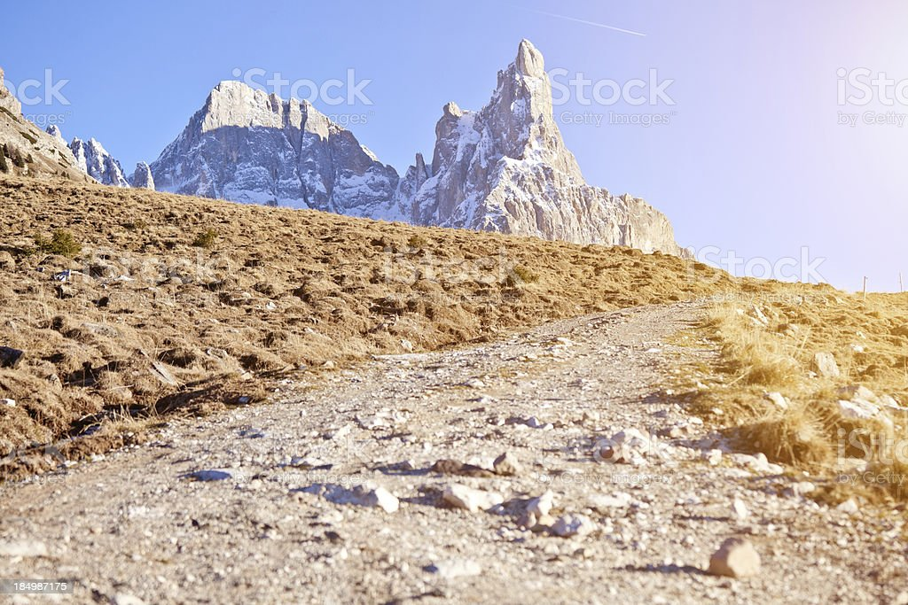 Mountain Track in the Dolomites, stock photo