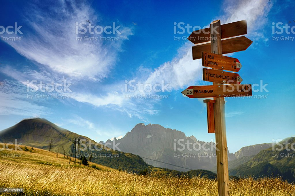 Mountain trails stock photo