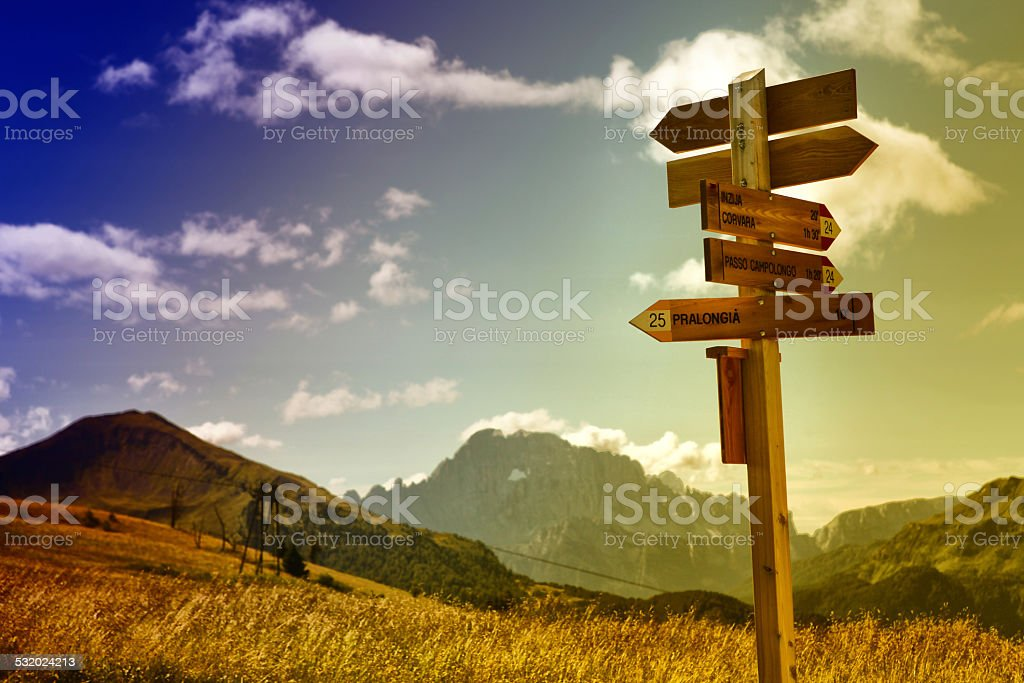 Mountain trails stock photo