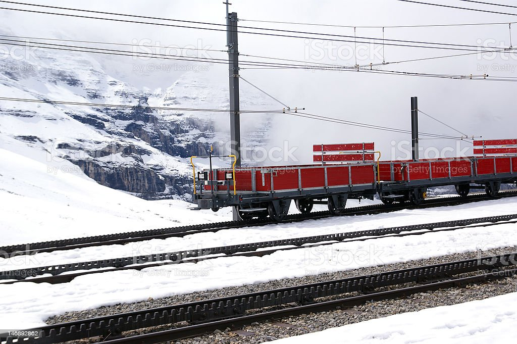 Mountain Train royalty-free stock photo