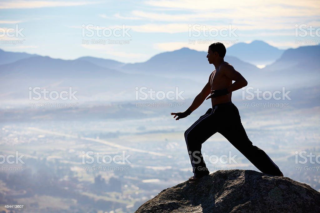 Mountain training is the best! royalty-free stock photo