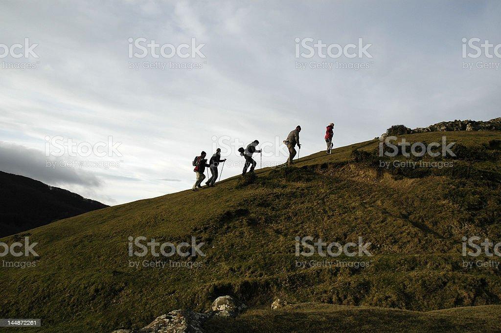 Mountain trekking royalty-free stock photo