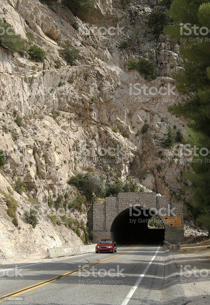 Mountain Tunnel royalty-free stock photo