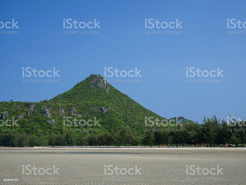 Mountain under blue sky 1 stock photo
