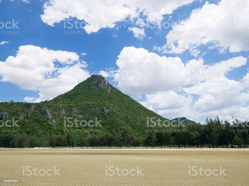 Mountain under blue sky 4 stock photo