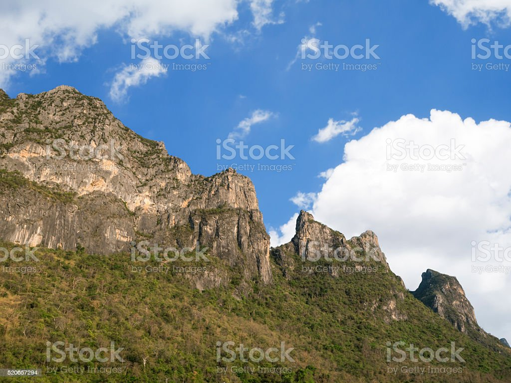 Mountain under blue sky 6 stock photo