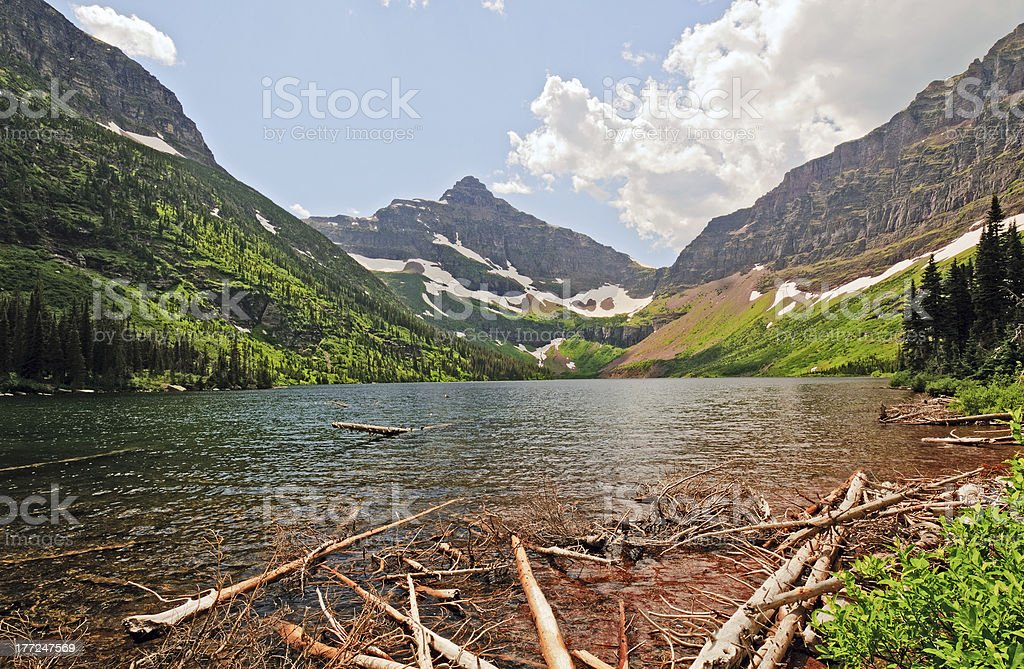 Mountain valley and lake royalty-free stock photo