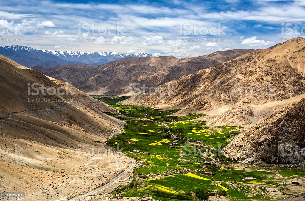 Mountain Valley In Himalayas royalty-free stock photo