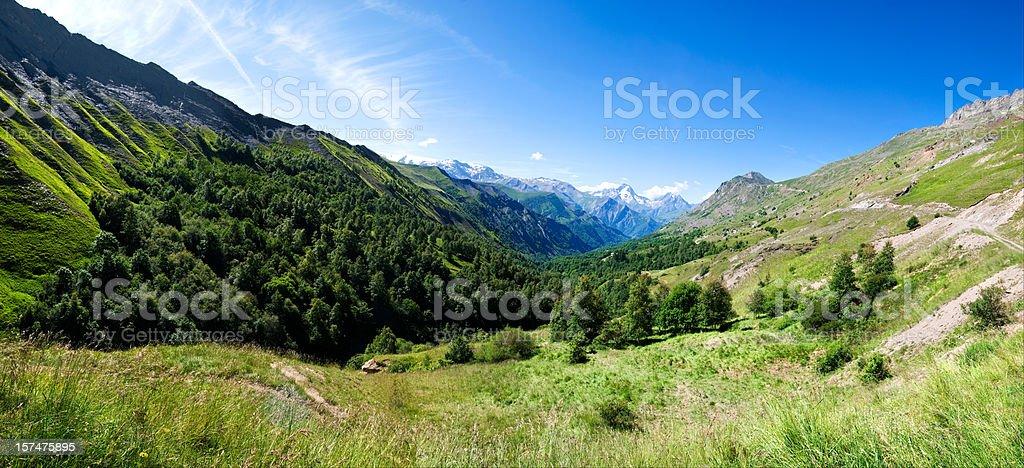 Mountain valley (XXXL) stock photo