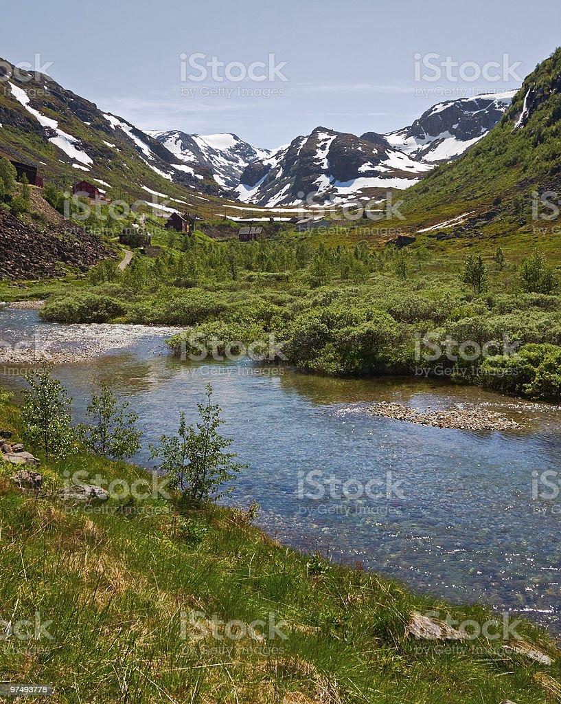 Mountain valley royalty-free stock photo