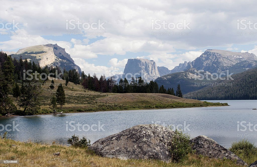 Mountain veiw from lakeside royalty-free stock photo