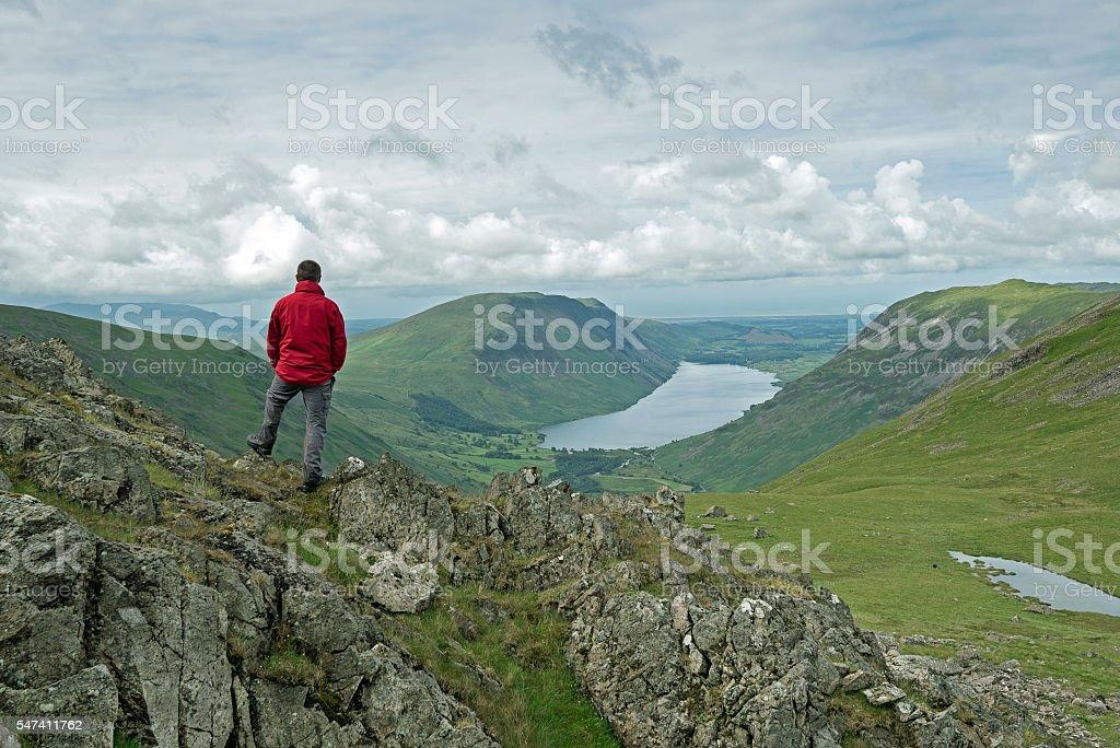 Mountain View English Lake District stock photo