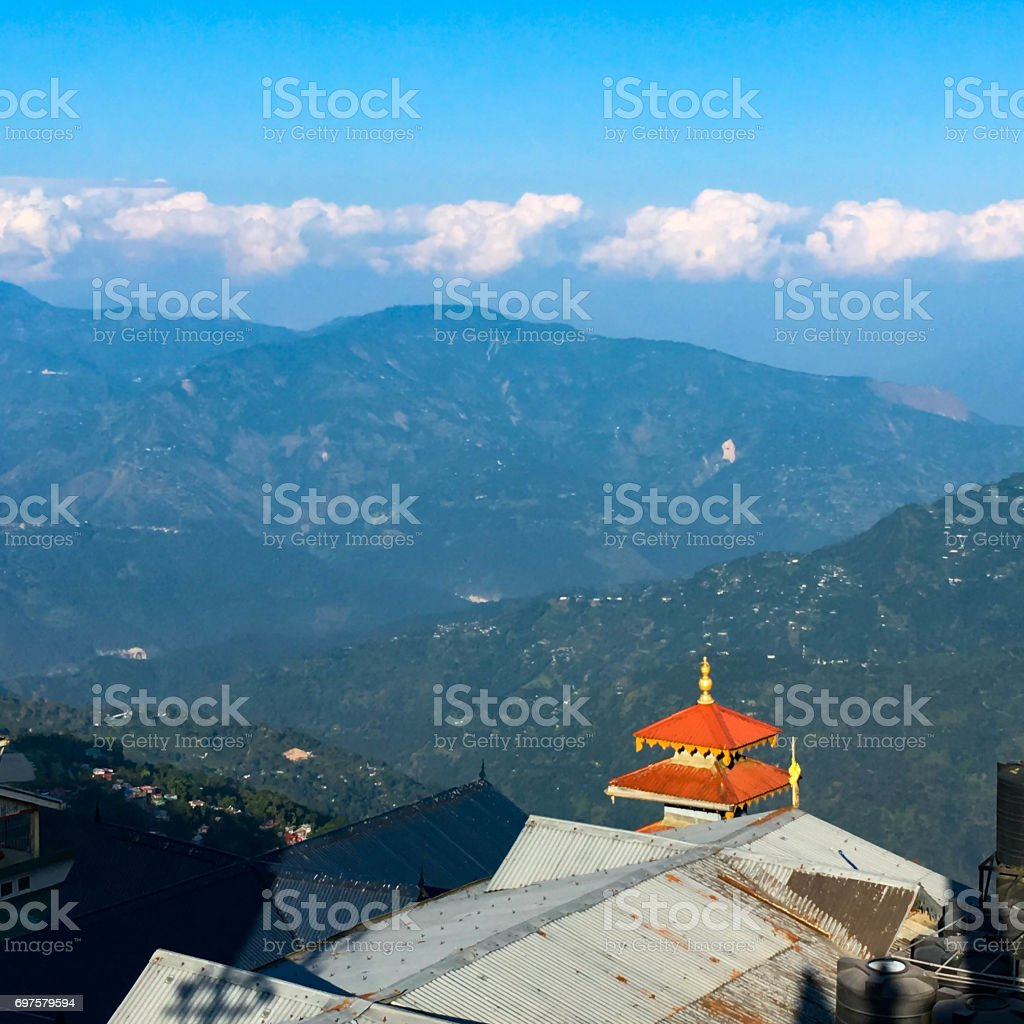 Mountain view from Darjeeling city stock photo