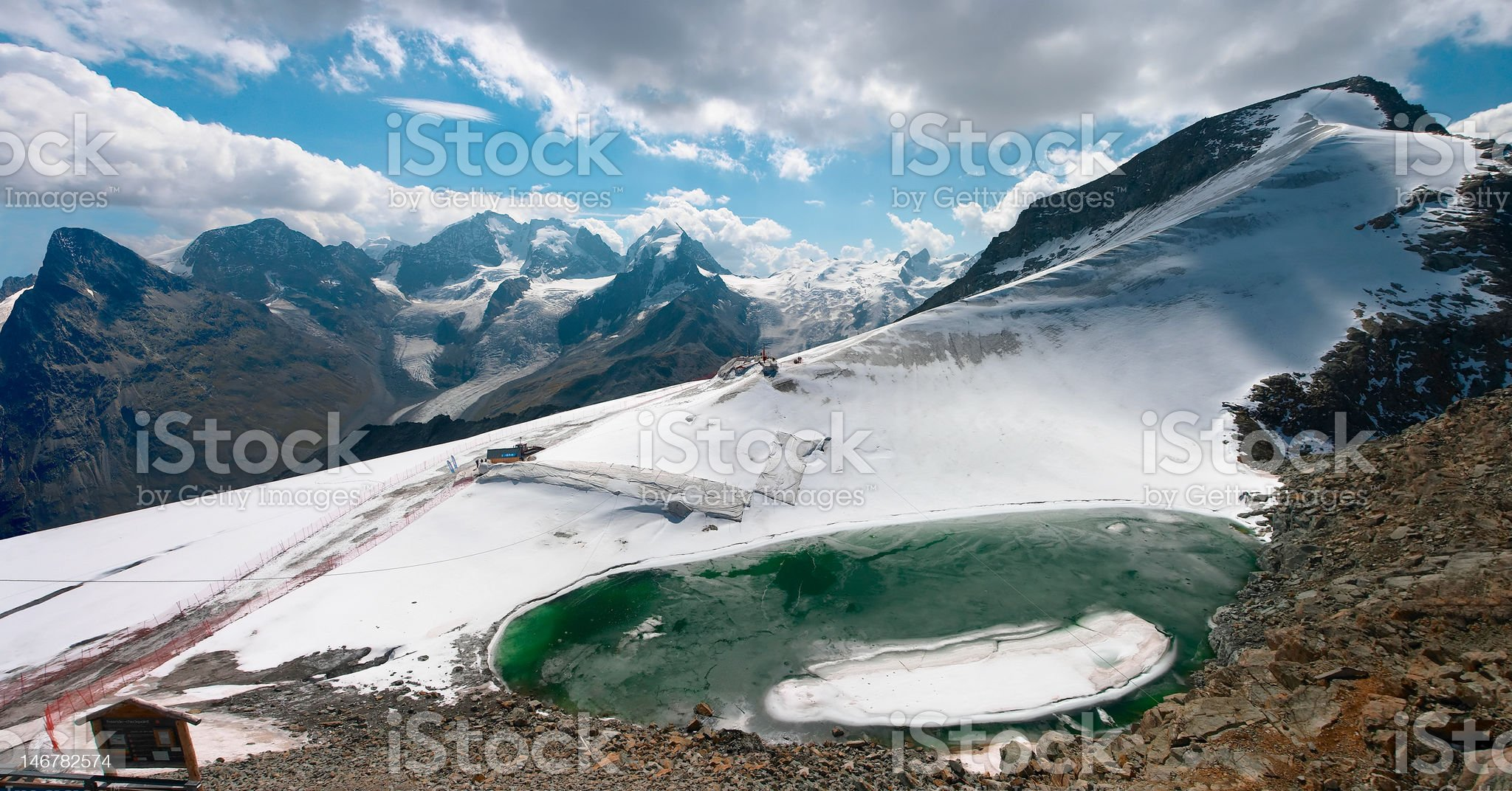 Mountain view from Piz Corvatsch near St. Moritz, Switzerland royalty-free stock photo