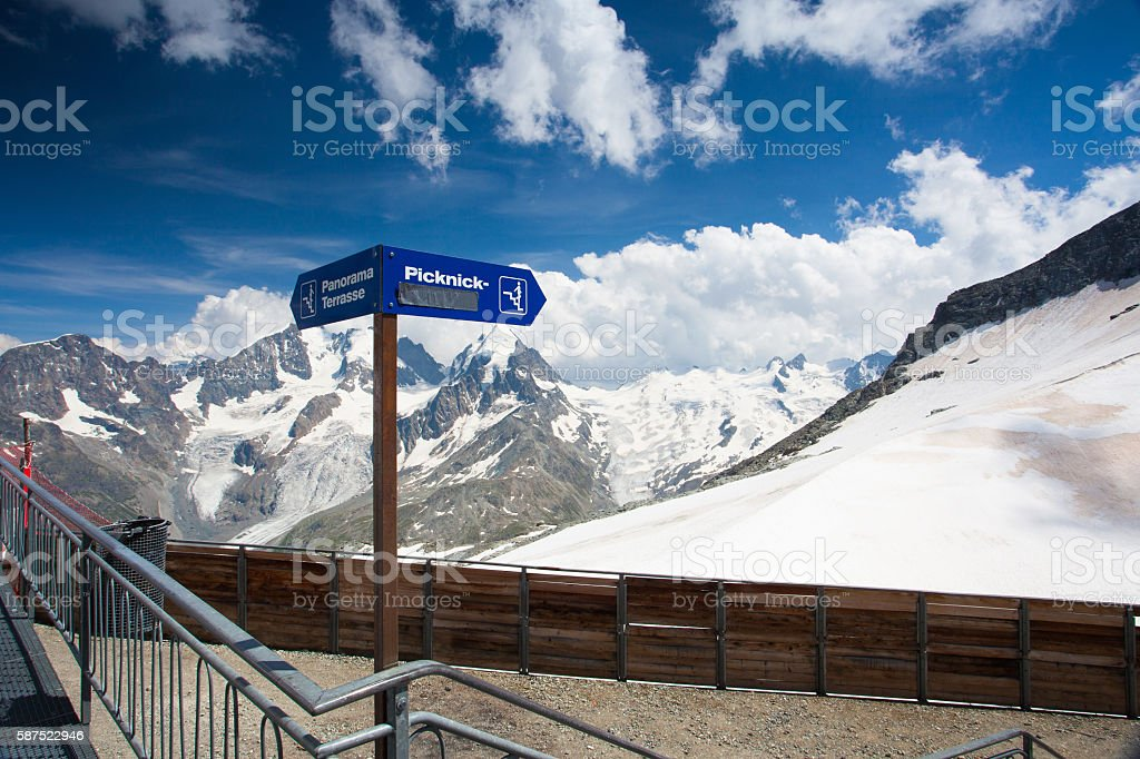 Mountain view from Piz Corvatsch stock photo