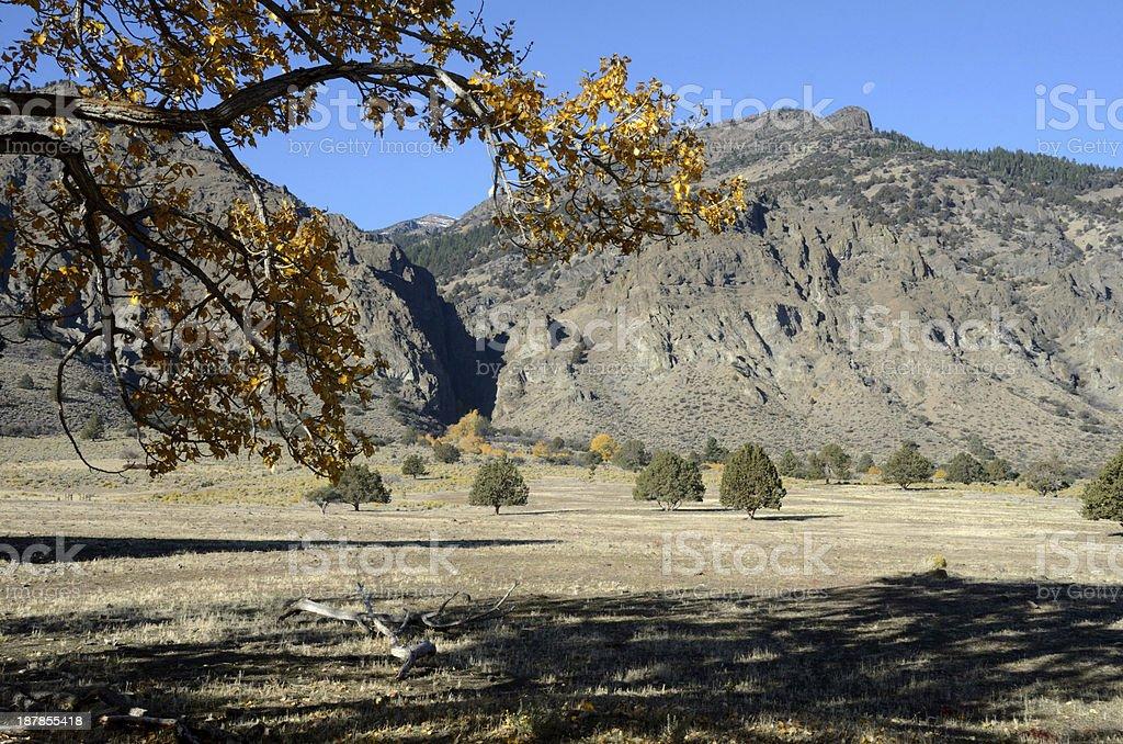 Mountain View In Autumn royalty-free stock photo