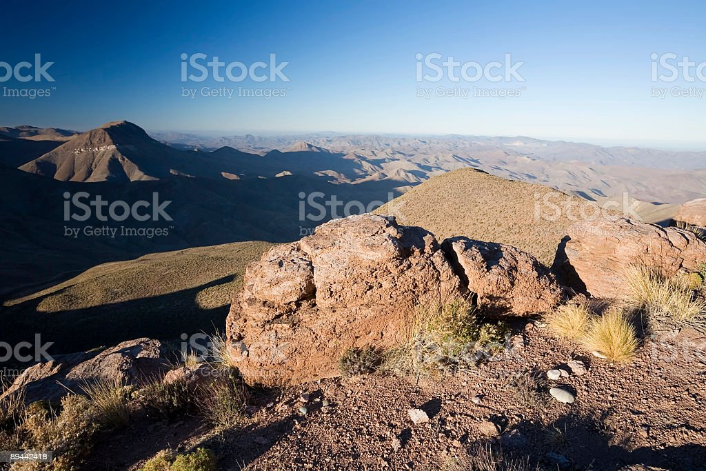 Mountain View in Chile stock photo