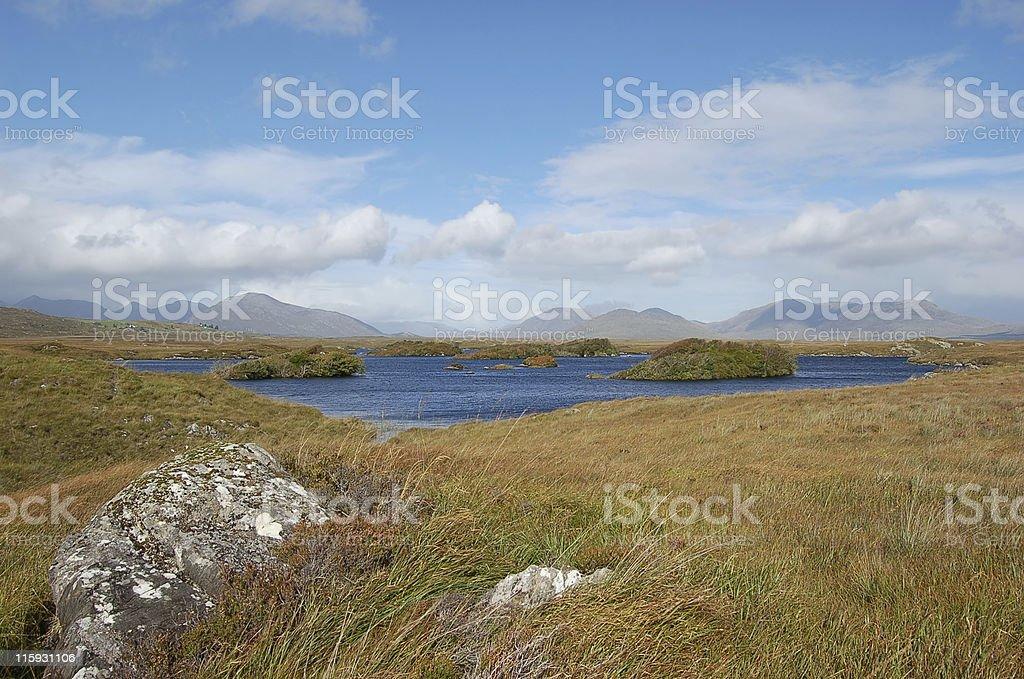 Mountain view in Connemara Irland royalty-free stock photo