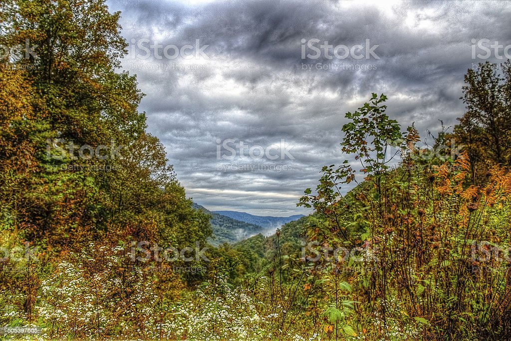 Mountain View in Fall stock photo