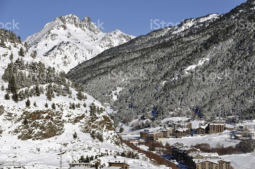 Mountain view in Winter royalty-free stock photo