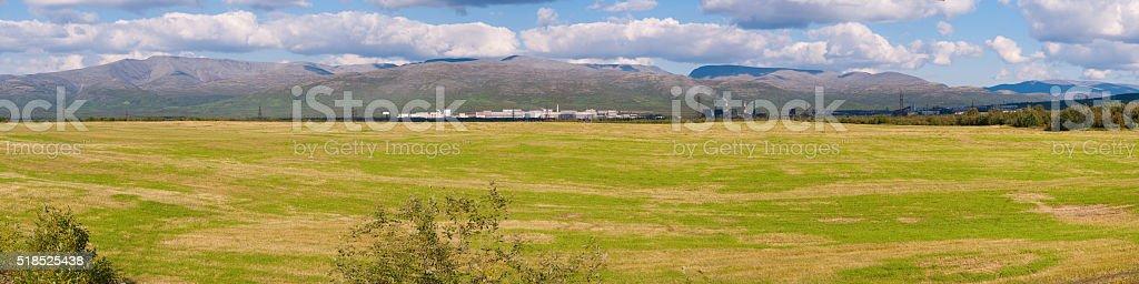 Mountain View Khibiny Kola Peninsula stock photo
