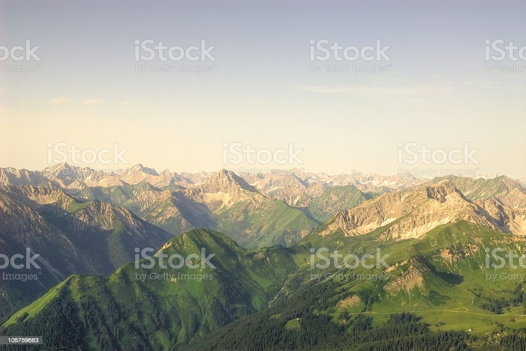 Mountain View - 'Lechtaler Alpen' stock photo