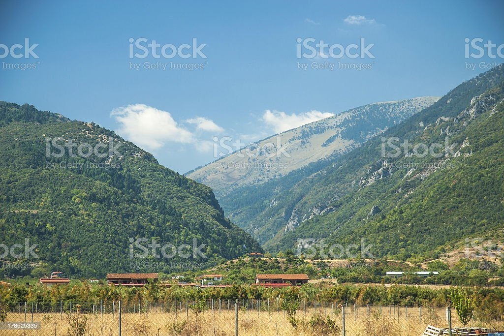 Mountain view - National Park Olympus stock photo