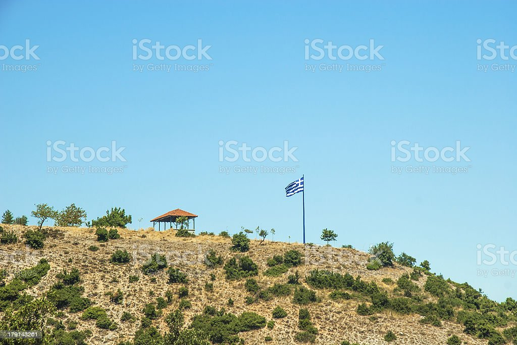Mountain view - National Park Olympus royalty-free stock photo