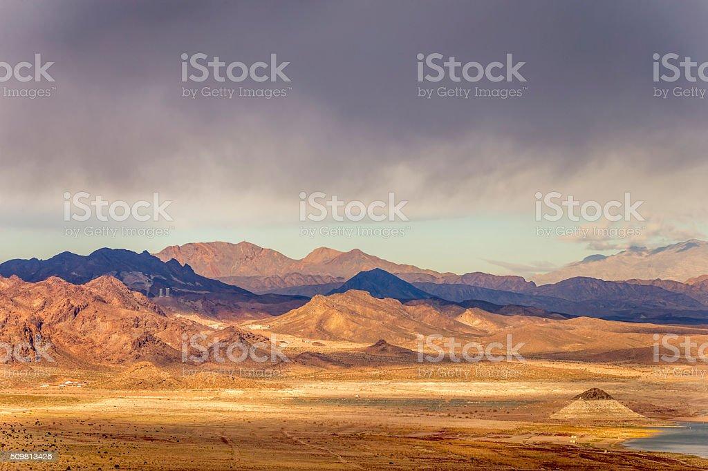 Mountain view near Las Vegas and Hoover Dam stock photo