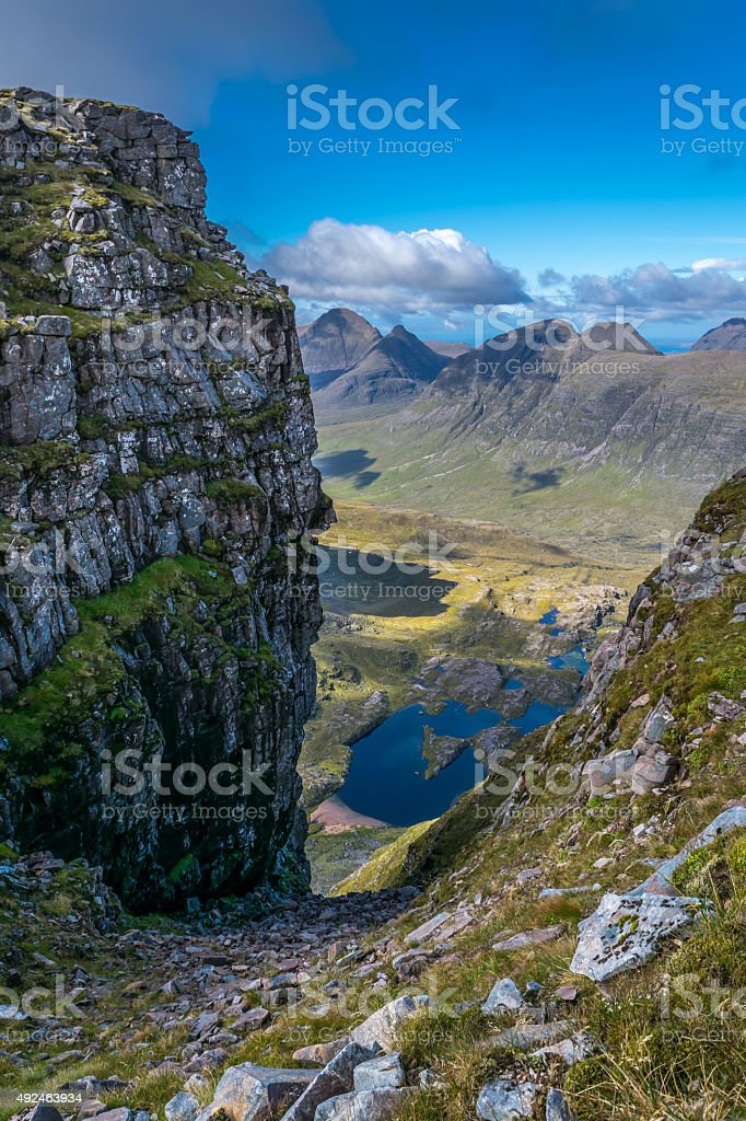 Mountain view of Hills and Lochs stock photo
