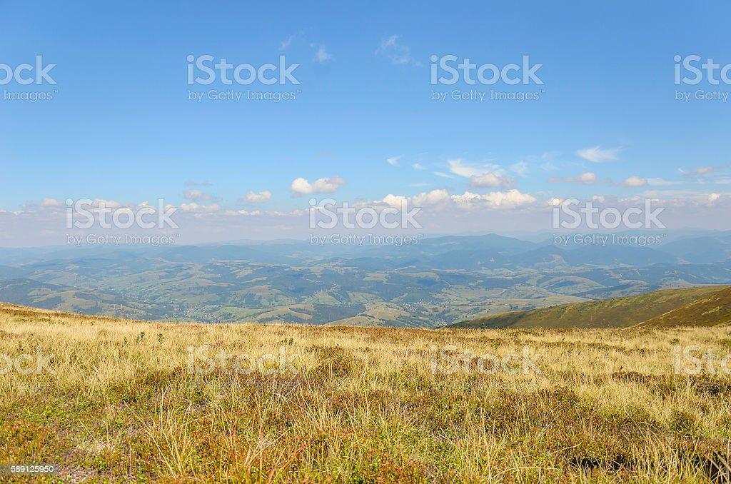 Mountain view. Panorama. stock photo