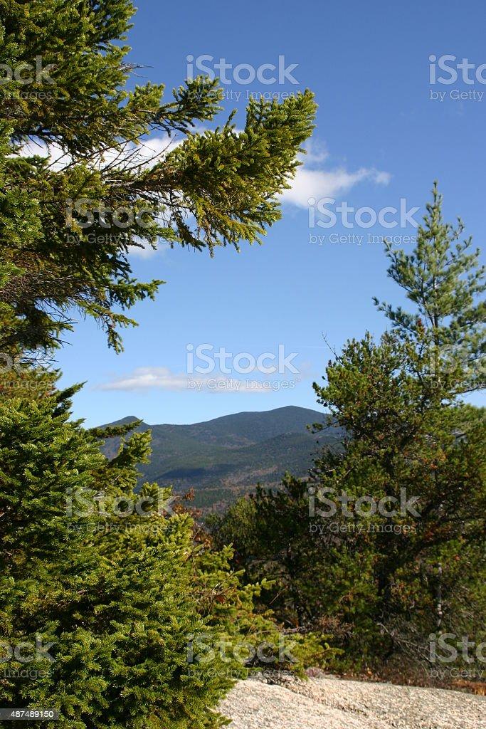 Vue sur la montagne photo libre de droits