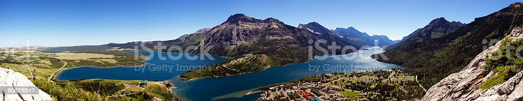 Mountain View (Waterton, Alberta) stock photo