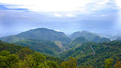 mountain view point in Chiang mai, Thailand : vintage tone