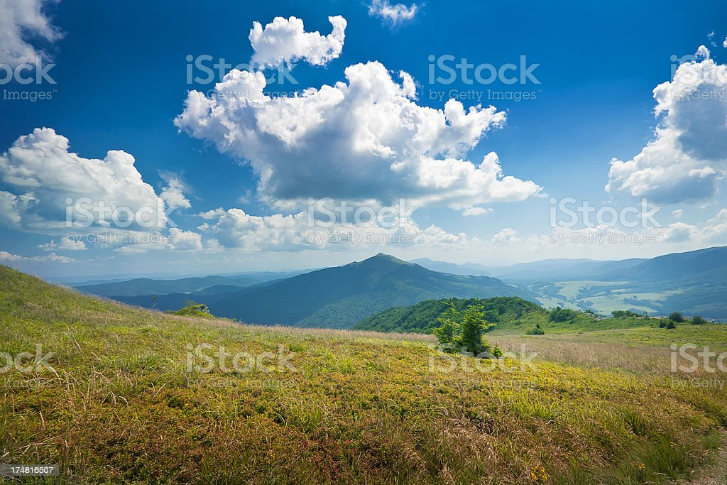 mountain view, Poland, Bieszczady stock photo