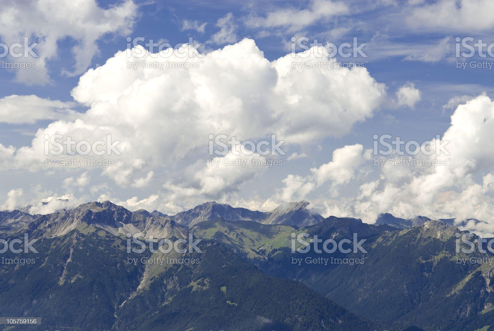 Mountain view Reutte / Tyrol royalty-free stock photo