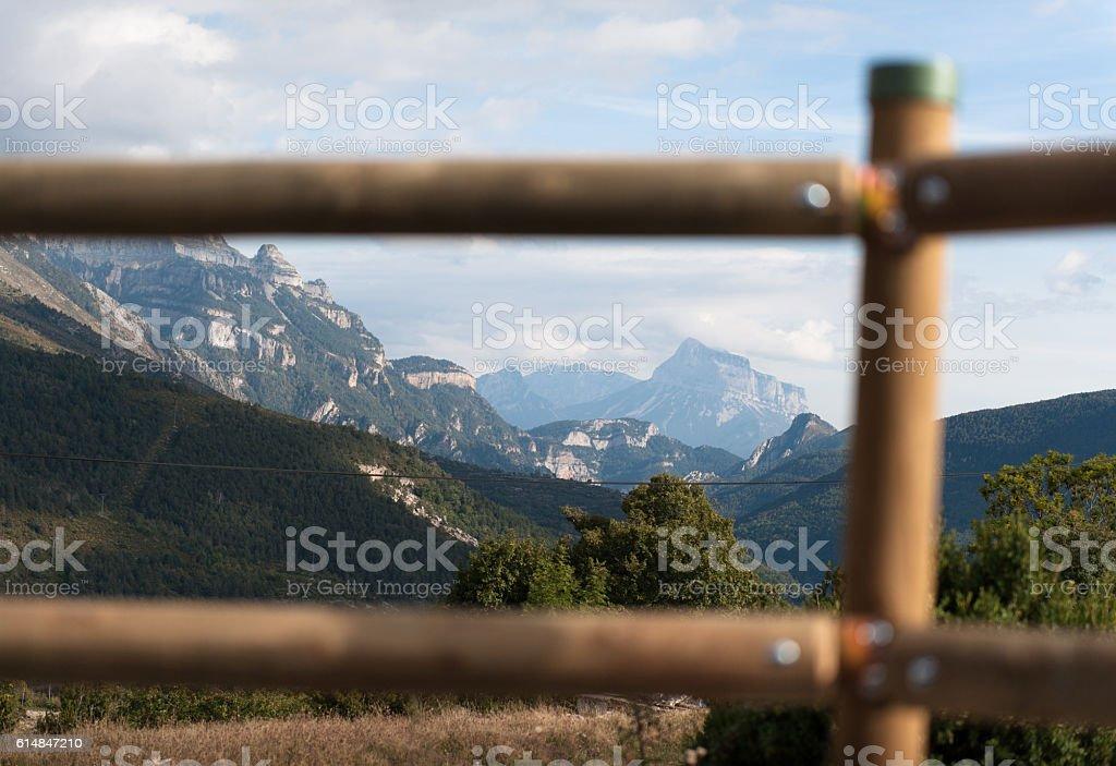 Mountain view Spanish Pyrinees stock photo