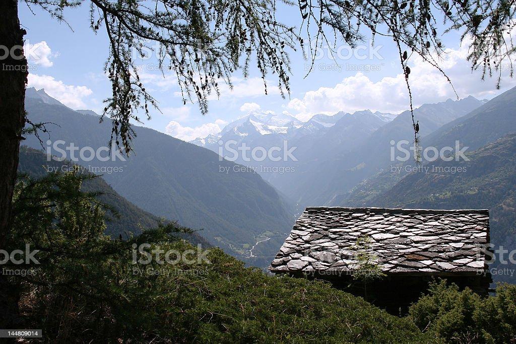 Mountain View Switzerland royalty-free stock photo