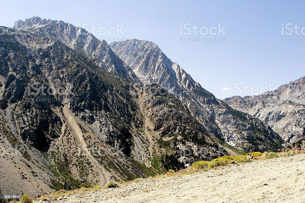 Mountain view, Tioga pass, California stock photo
