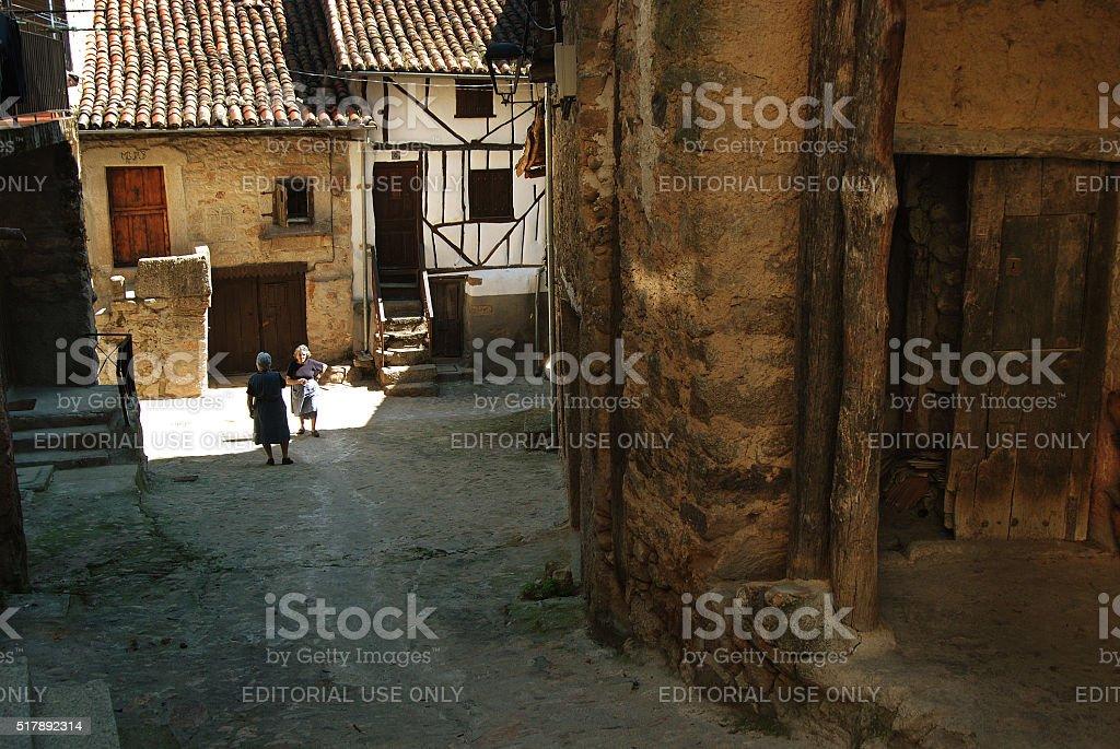 Mountain village in East Spain stock photo