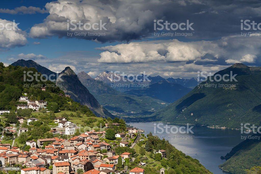 Mountain village of Bre stock photo