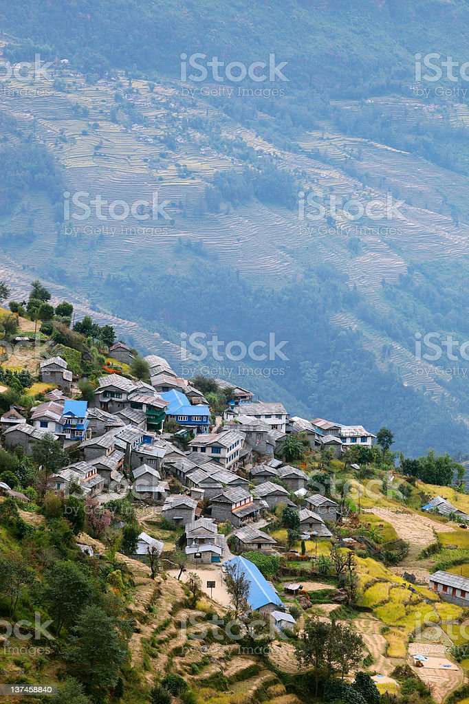 Mountain village royalty-free stock photo